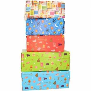 10x sinterklaas inpakpapier/cadeaupapier 2,5 x 0,7 meter