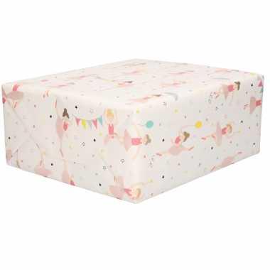 1x inpakpapier/cadeaupapier balletdanseressen 200 x 70 cm rollen