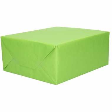 1x rol kraft inpakpapier groen 200 x 70 cm