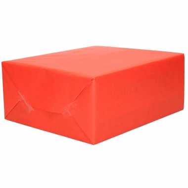 1x rol kraft inpakpapier rood 200 x 70 cm