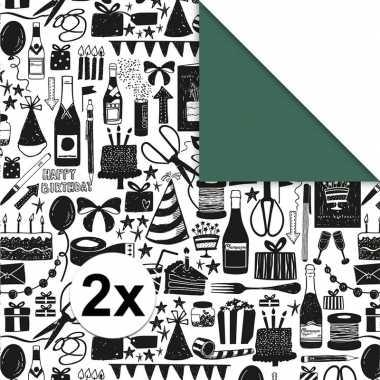 2x inpakpapier/inpakpapier art party 200 x 70 cm