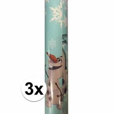 3x disney inpakpapier frozen olaf 200 x 70 cm op rol