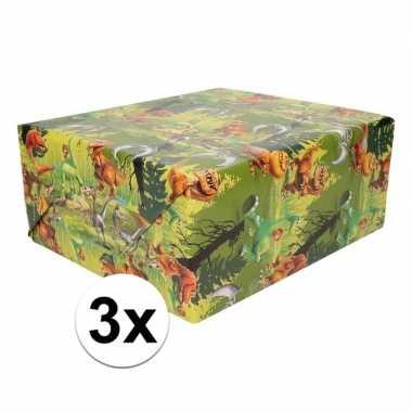 3xdisney inpakpapier dinosaurus good dinosaur 200 x 70 cm op rol