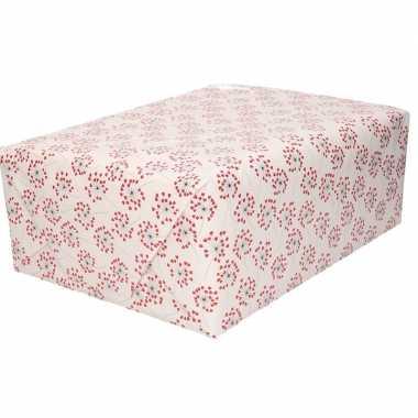 5x inpakpapier/cadeaupapier hartjes print 200 x 70 cm rollen