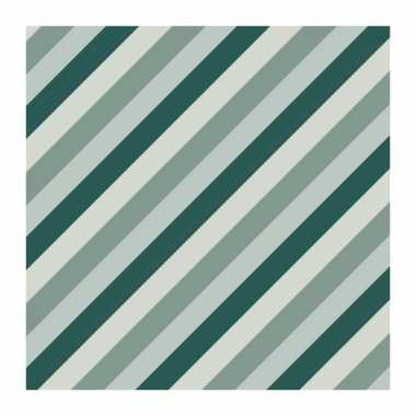5x rollen inpakpapier/cadeaupapier strepen petrol/blauw 200 x 70 cm