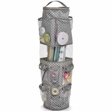 Cadeauverpakking/inpakpapier organizer tas met vakjes 22 x 80 cm