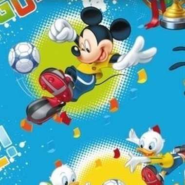 Disney inpakpapier mickey mouse blauw 200 x 70 cm op rol
