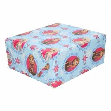 Inpakpapier/cadeaupapier disney frozen elsa & anna 200 x 70 cm