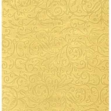 Inpakpapier/cadeaupapier goud klassiek design 150 x 70 cm