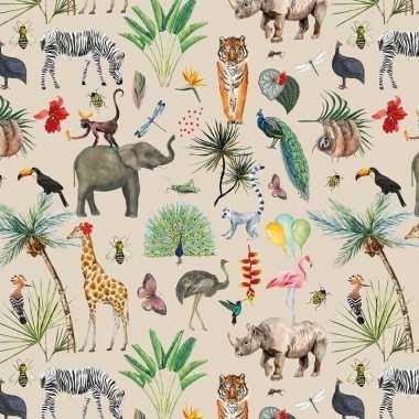 Inpakpapier/cadeaupapier jungle 200 x 70 cm
