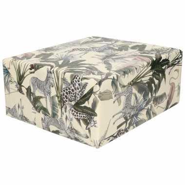 Inpakpapier/cadeaupapier jungle dieren design 200 x 70 cm