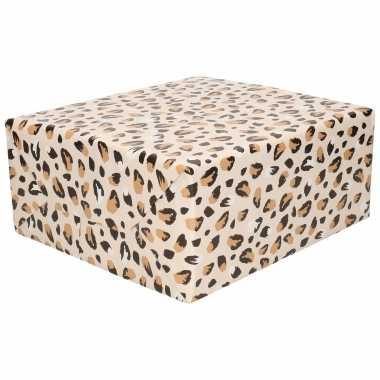 Inpakpapier/cadeaupapier panter/luipaard print 200 x 70 cm