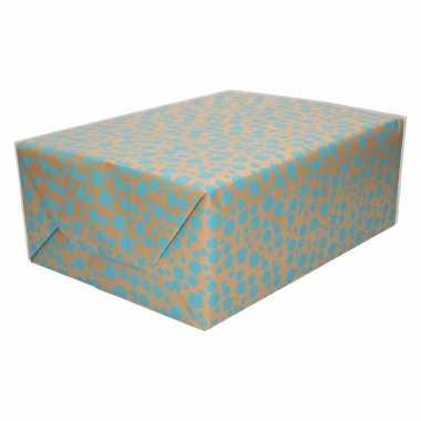 Inpakpapier/cadeaupapier stippen print 200 x 70 cm op rol