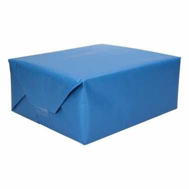 Inpakpapier dubbelzijdig blauw licht blauw 200 x 70 cm