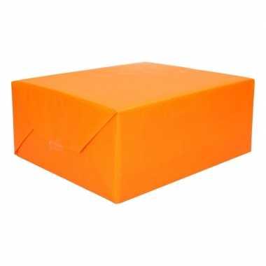 Inpakpapier dubbelzijdig geel oranje 200 x 70 cm