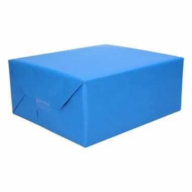 Inpakpapier dubbelzijdig rood blauw 200 x 70 cm