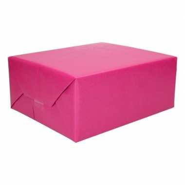 Inpakpapier dubbelzijdig roze licht blauw 200 x 70 cm