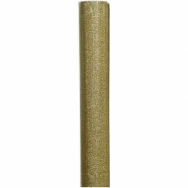 Inpakpapier goud/glitters 70 x 150 cm