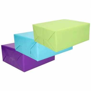 Inpakpapier voordeelset 3 rollen van 70 x 200 cm