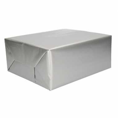 Inpakpapier zilver 70 x 200 cm
