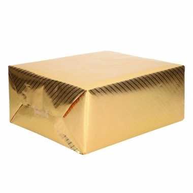 Rol inpakpapier goud met motief 76 x 500 cm