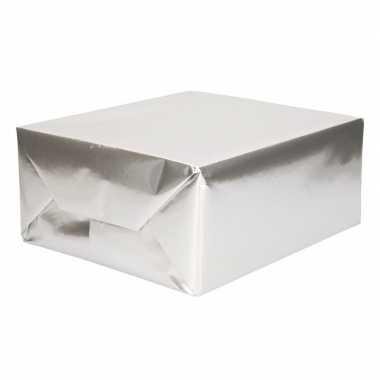 Rol inpakpapier uni zilver 76 x 500 cm