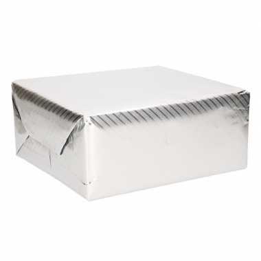 Rol inpakpapier zilver met motief 76 x 500 cm