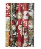 15x kerst inpakpapier met prints 70 x 200 cm