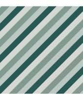 1x rollen inpakpapier cadeaupapier strepen petrol blauw 200 x 70 cm