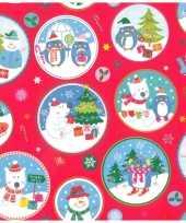 1x rollen kerst inpakpapier cadeaupapier rood 2 5 x 0 7 meter