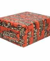 1x rollen sinterklaas inpakpapier cadeaupapier donkerrood 2 5 x 0 7 meter