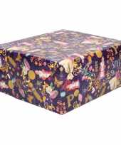 1x rollen sinterklaas inpakpapier cadeaupapier gekleurd 2 5 x 0 7 meter