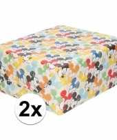 2x inpakpapier cadeaupapier disney mickey mouse 200 x 70 cm