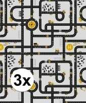 3x inpakpapier cadeaupapier wegen speelkleed 200 x 70 cm