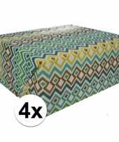 4x inpakpapier met gekleurd motief 200 x 70 cm op rol type 3