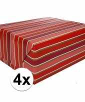 4x inpakpapier met strepen 200 x 70 cm op rol type 7