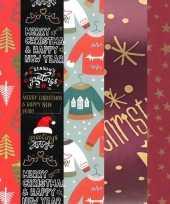 5x rollen kerst inpakpapier cadeaupapier diverse prints 2 5 x 0 7 meter voor volwassenen