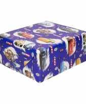 Disney inpakpapier cadeaupapier cars blauw 200 x 70 cm op rol