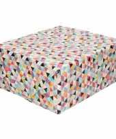 Inpakpapier cadeaupapier driehoekjes gekleurd 200 x 70 cm rol