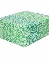 Inpakpapier cadeaupapier groen bloemenprint 200 x 70 cm rol