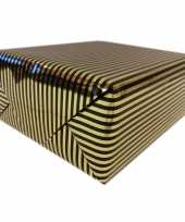 Inpakpapier cadeaupapier metallic goud zwart 150 x 70 cm