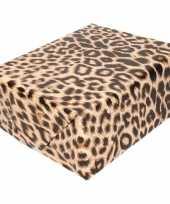 Inpakpapier cadeaupapier panter luipaard print 200 x 70 cm rol