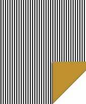 Inpakpapier cadeaupapier streepjes 200 x 70 cm zwart wit