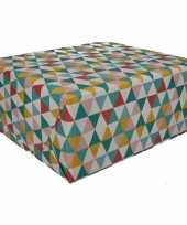 Inpakpapier driehoek motief 200 x 70 cm op rol type 6