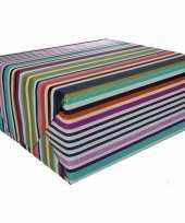 Inpakpapier gekleurde met strepen 200 x 70 cm op rol type