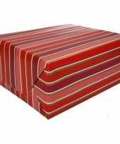 Inpakpapier rood roze met strepen 200 x 70 cm op rol type 7