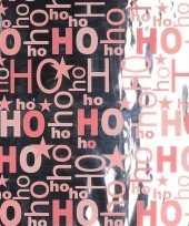 Kerstcadeau inpakpapier zilver roze 1 rol