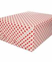 Verjaardag inpakpapier cadeaupapier rood hart print 200 x 70 cm